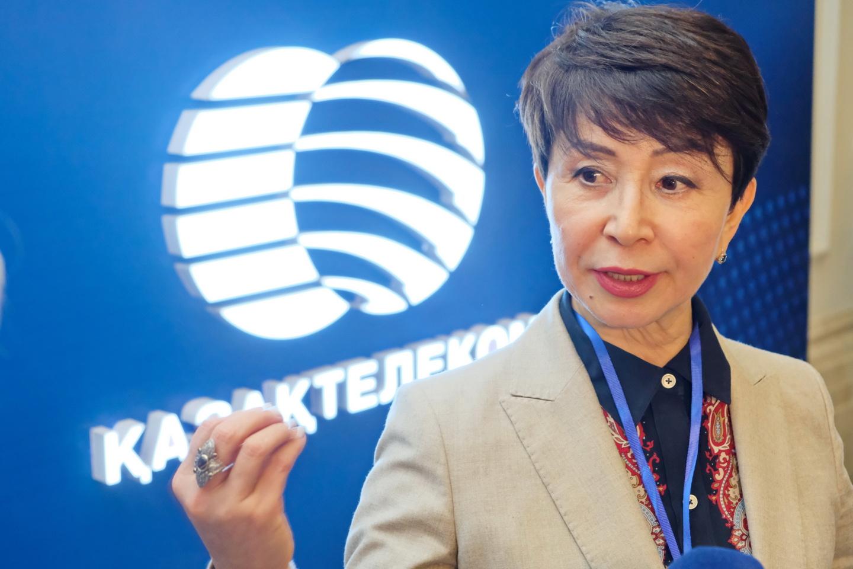 На фото:Бикеш Курмангалиева, управляющий директор «Казахтелеком» по ИКТ-услугам